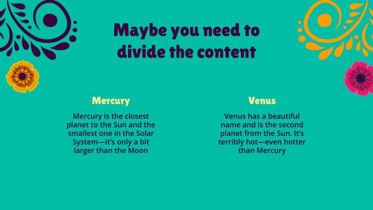 Colorful Día de Muertos presentation template