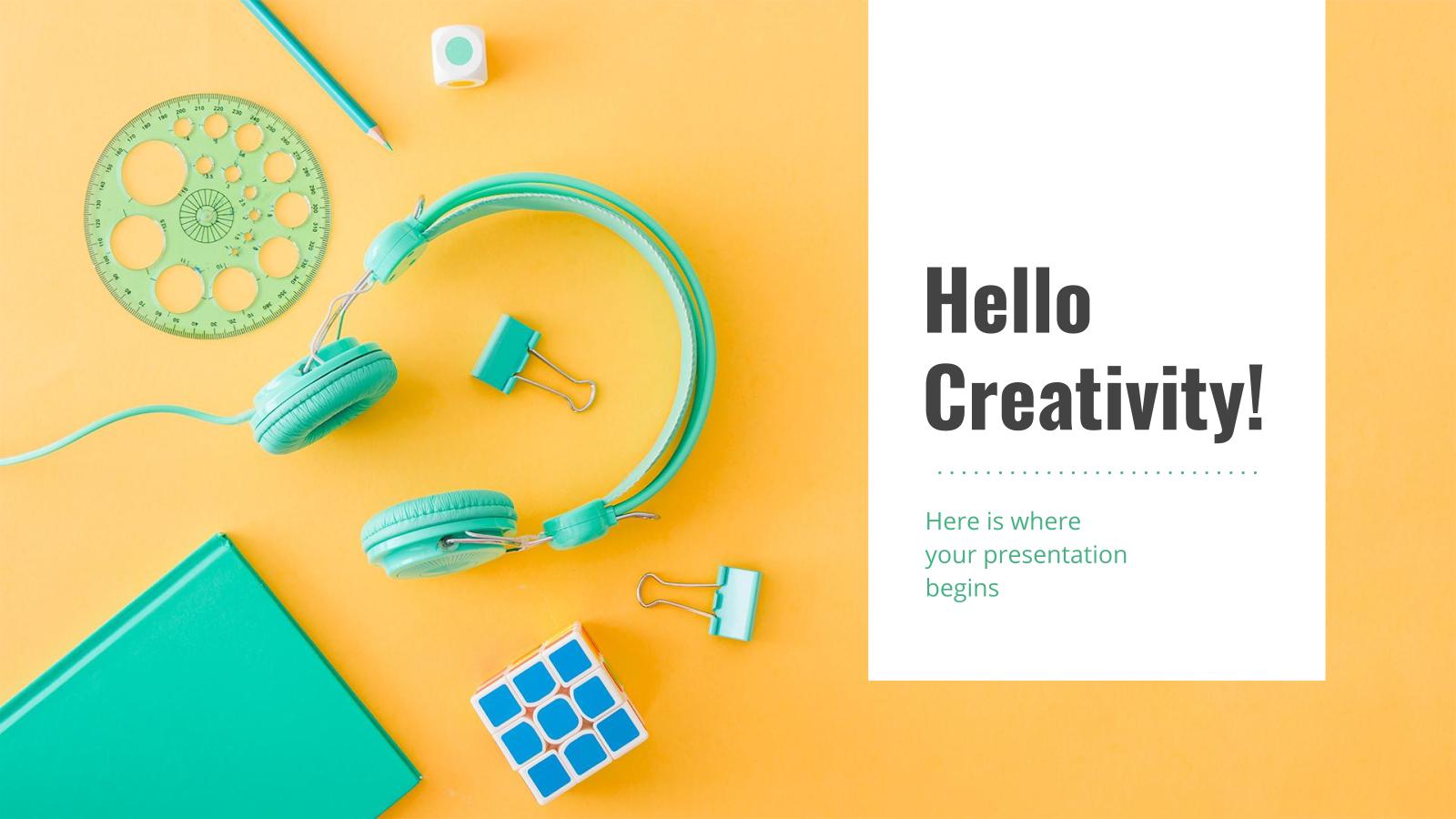 Modelo de apresentação Criatividade em cores