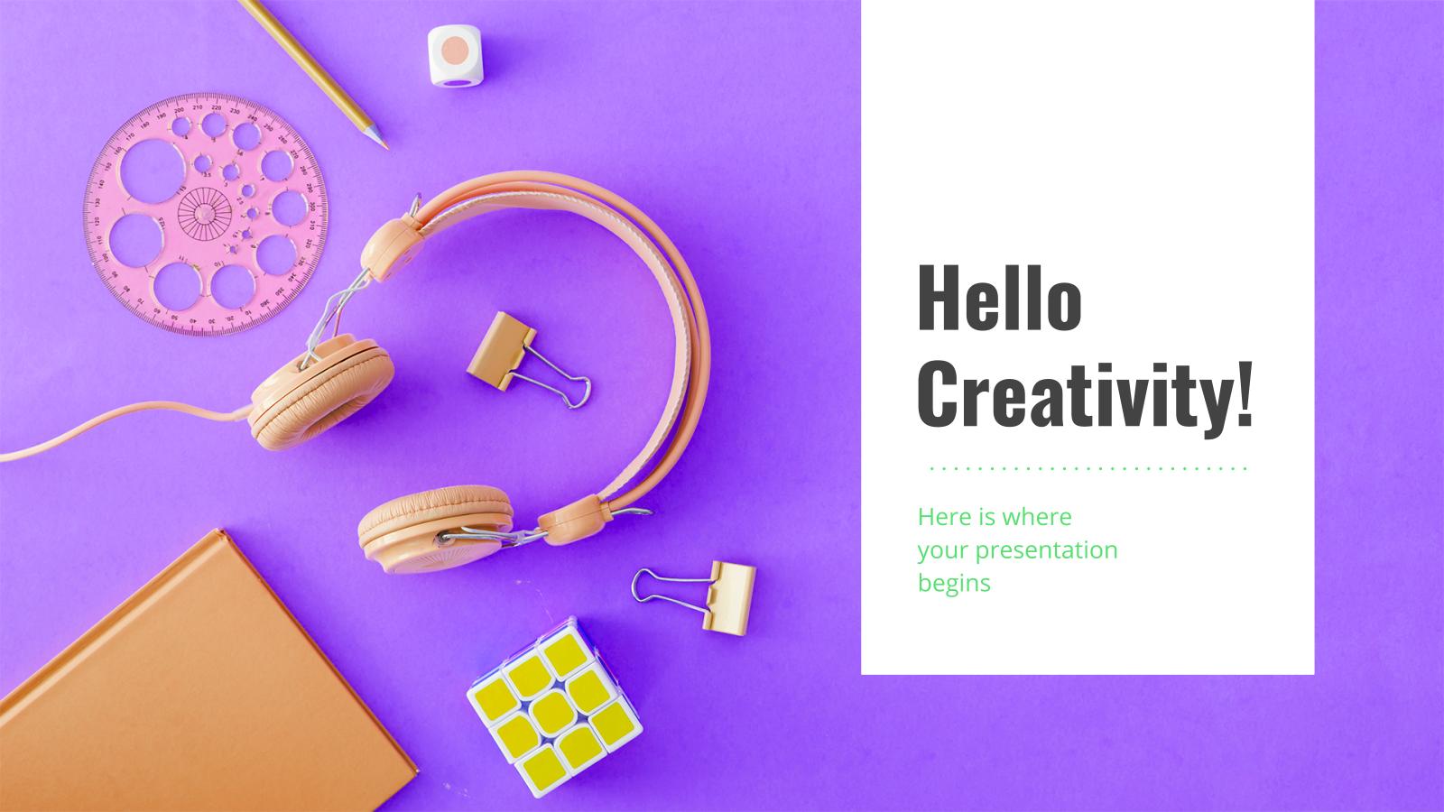 Color Creative presentation template