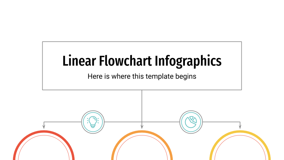Linear Flowchart Infographics presentation template