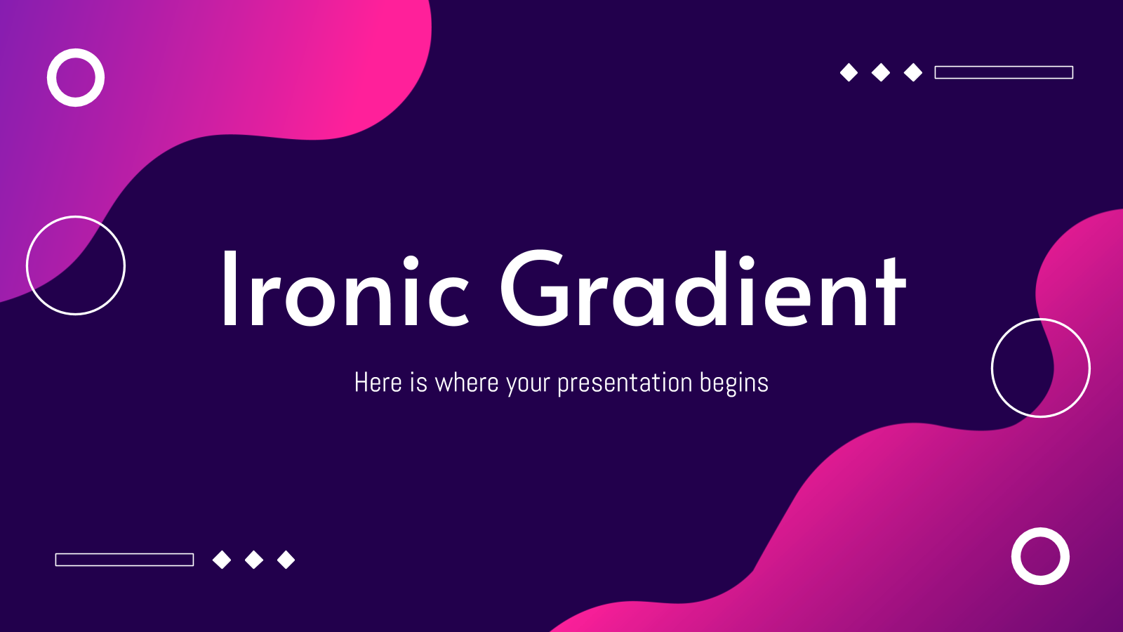 Ironic Gradient presentation template