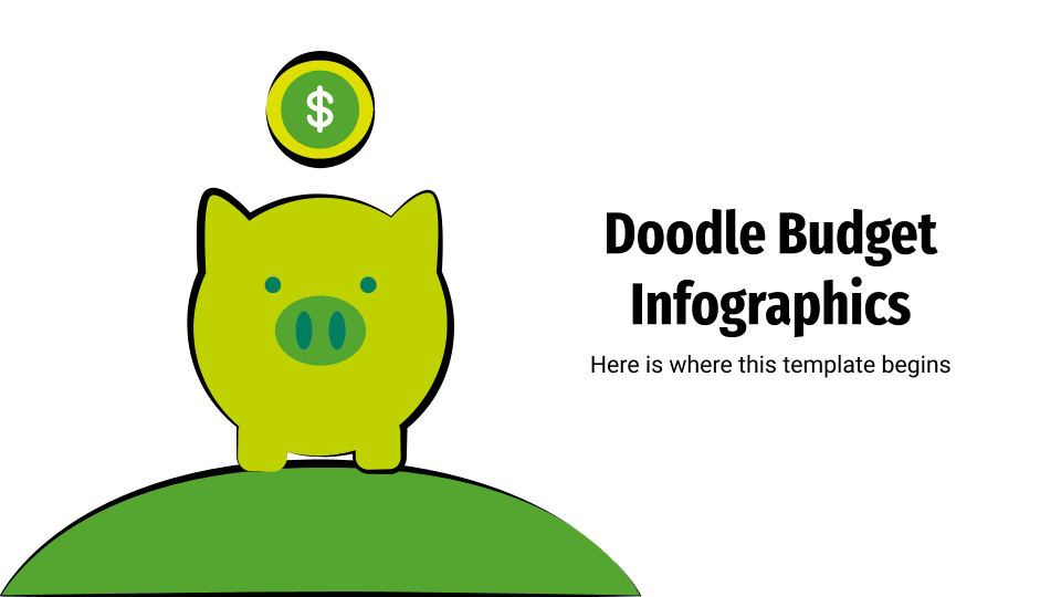 Doodle Budget Infographics presentation template