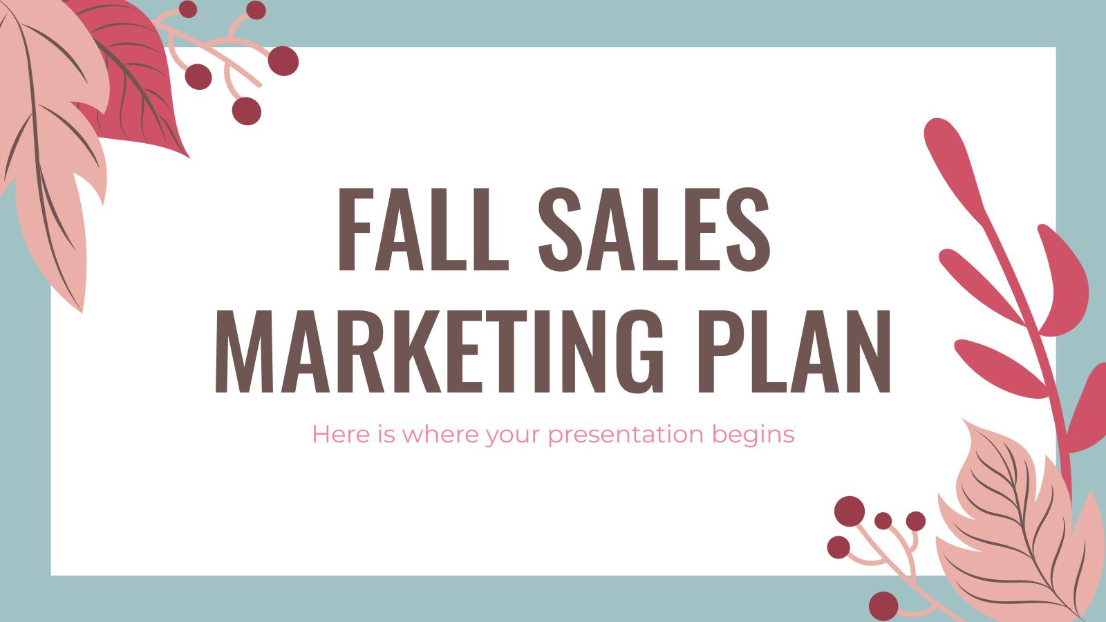 Fall Sales Marketing Plan presentation template