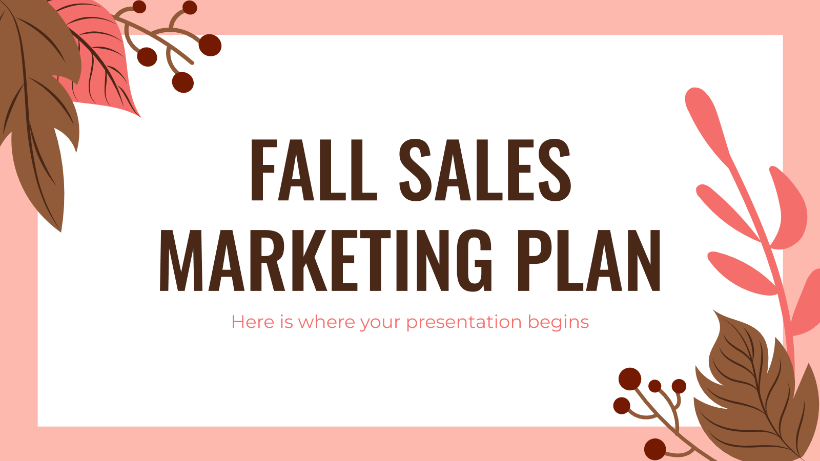 Fall Sales Marketing Plan presentation template