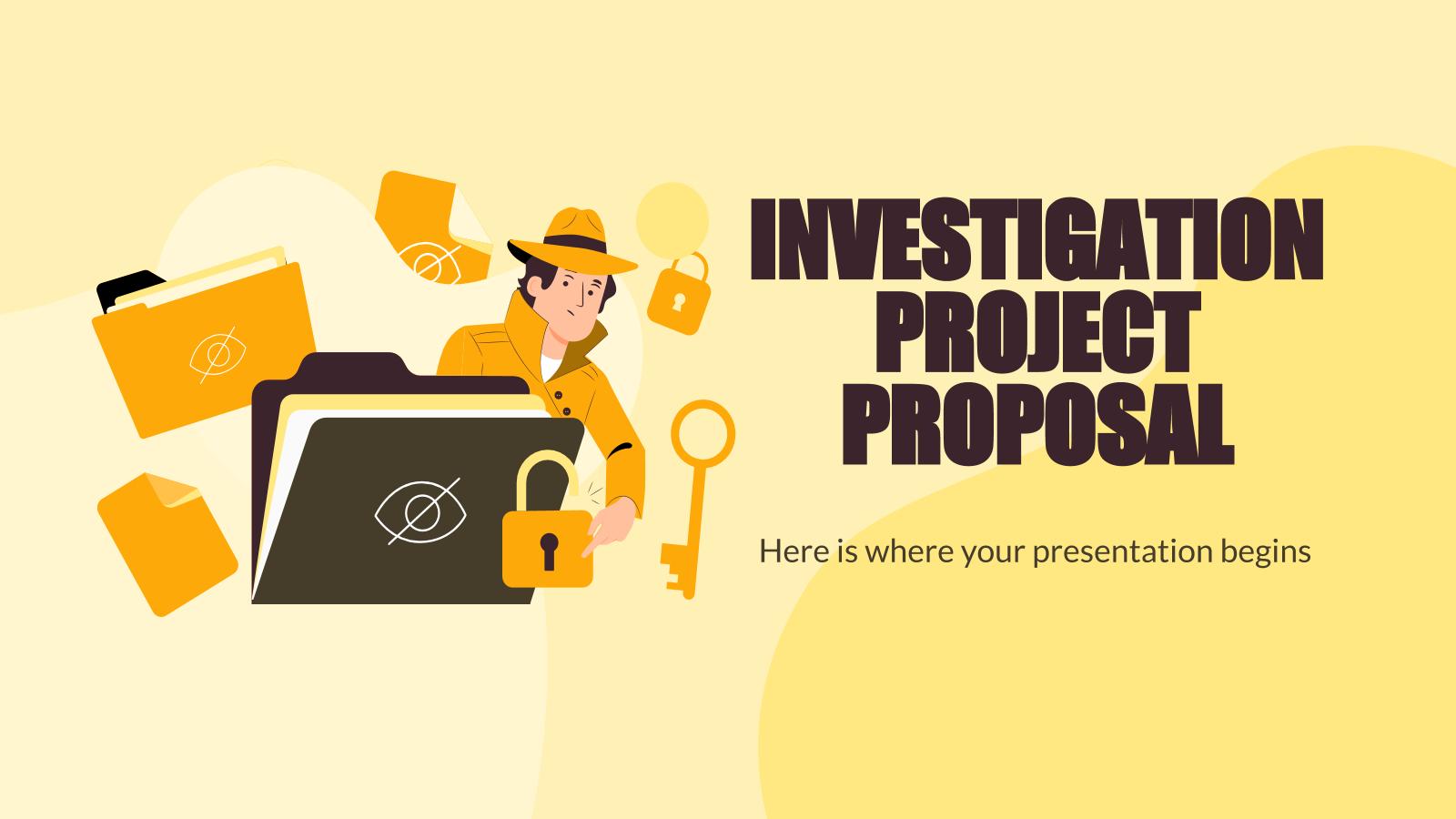 Plantilla de presentación Proyecto de investigación privada