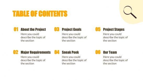 Investigation Project Proposal presentation template