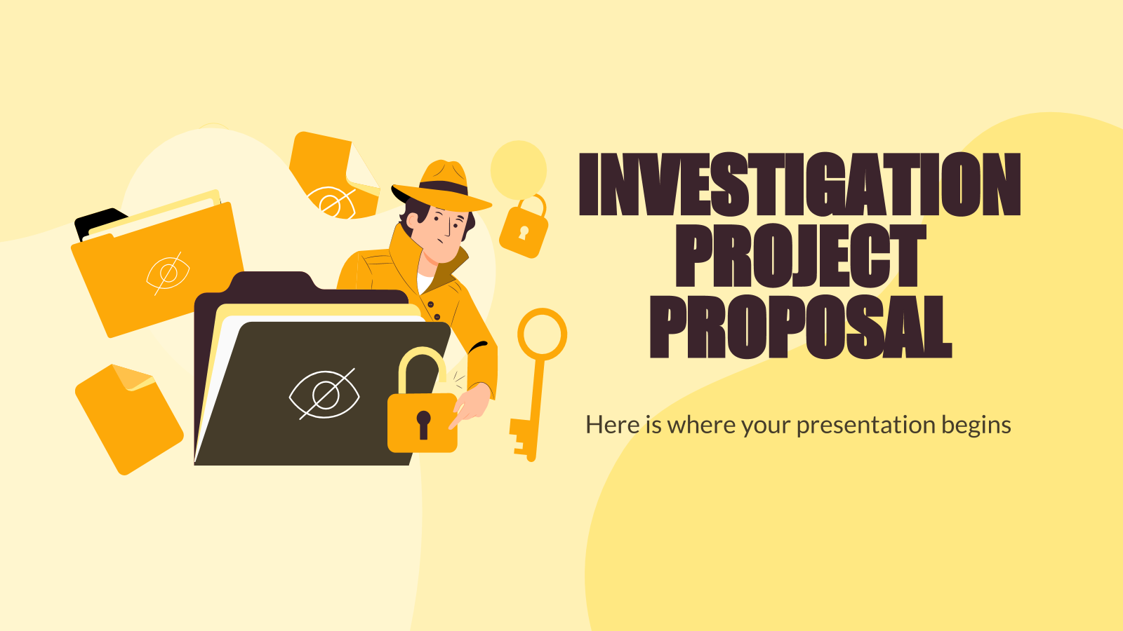 Investigation Project Proposal presentation template