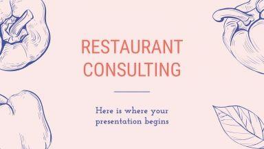Plantilla de presentación Asesor de restaurantes