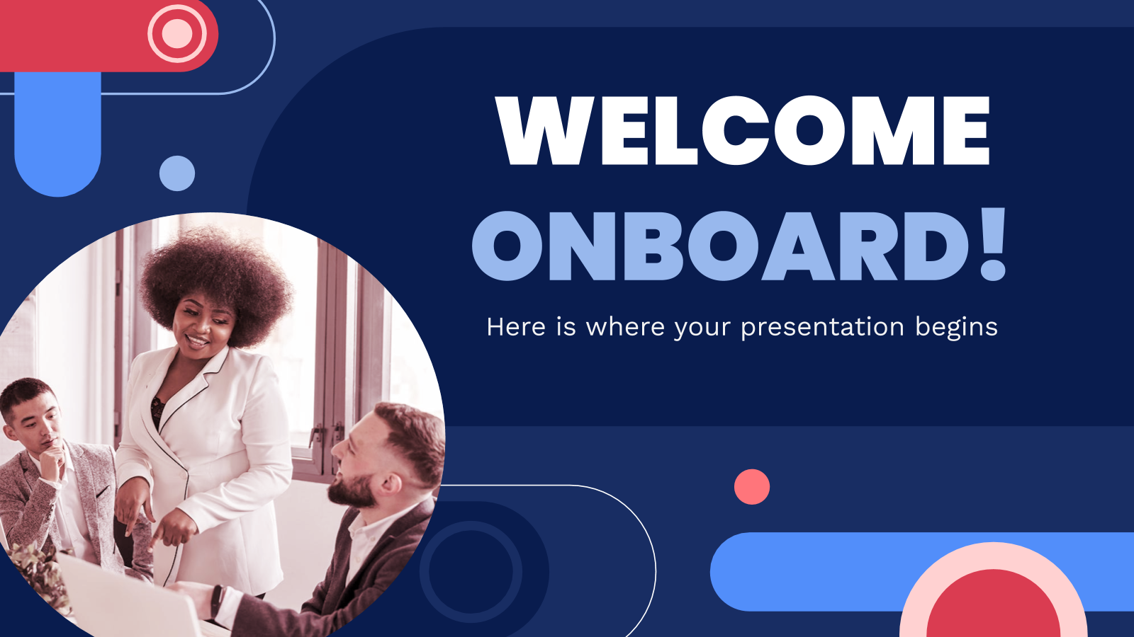 Welcome Onboard Company Profile presentation template