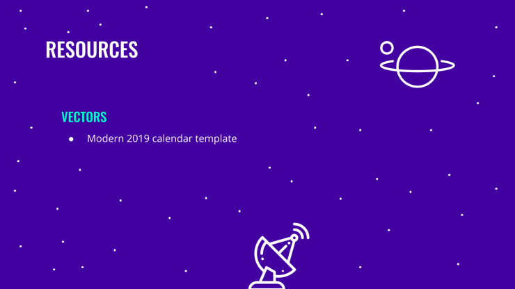 Galaxy Calendar presentation template