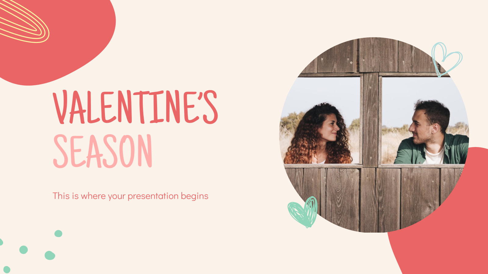 Valentine's Season presentation template