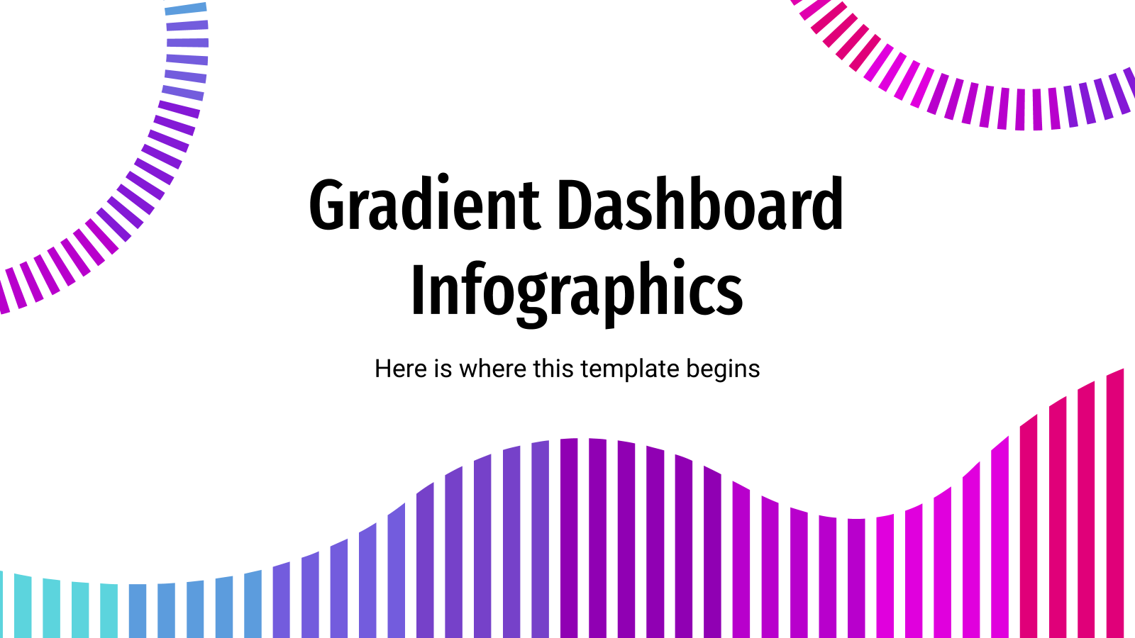Gradient Dashboard Infographics presentation template
