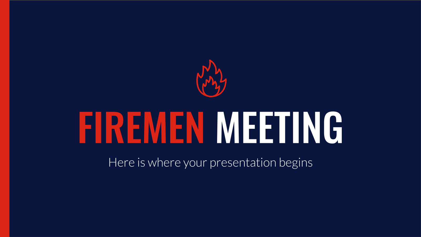 Firemen Meeting presentation template