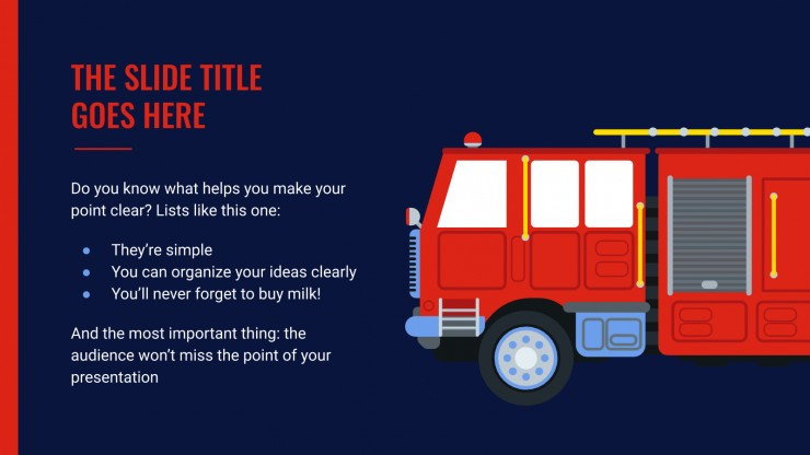 Réunion des pompiers : Modèles de présentation