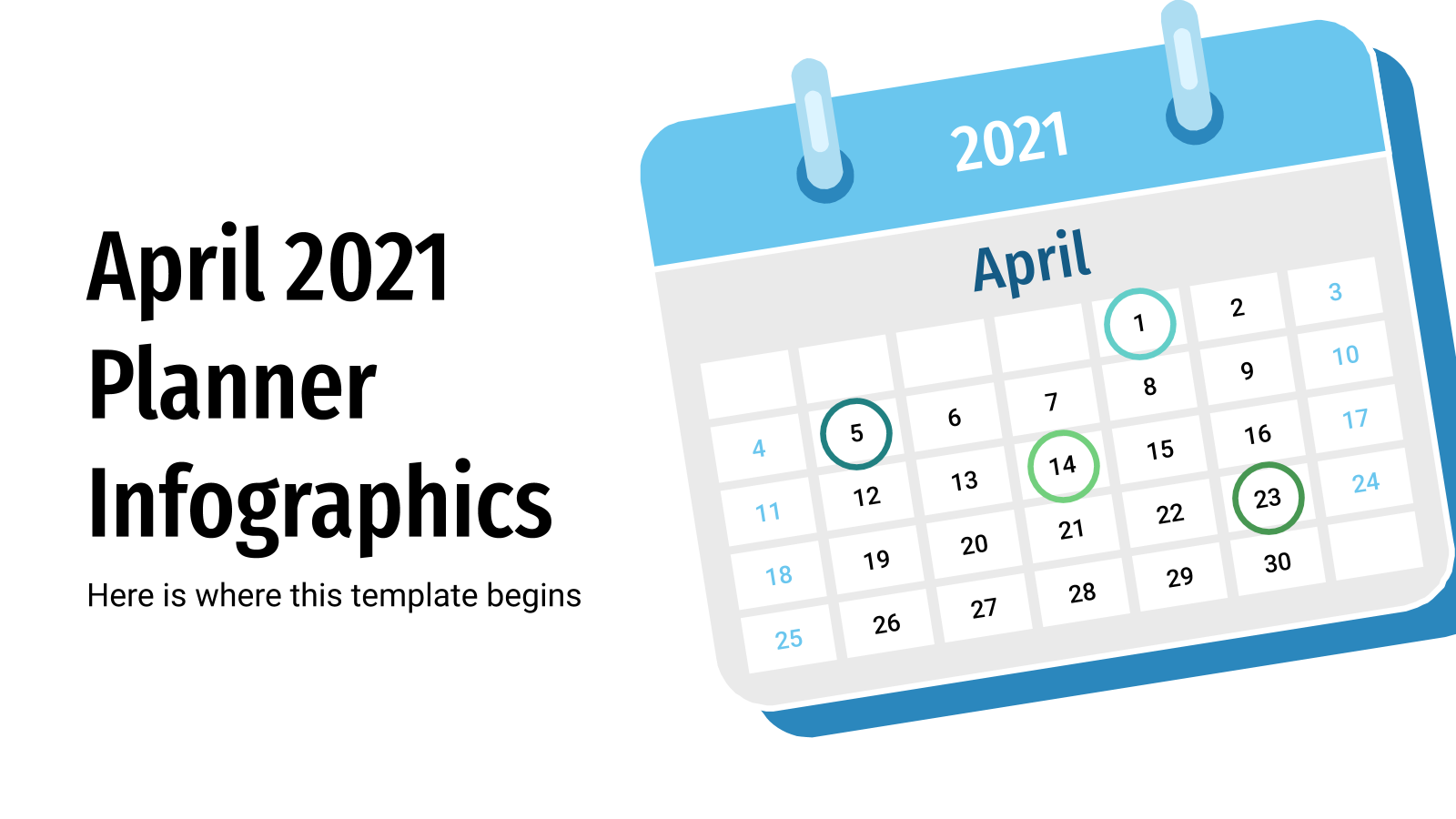 April 2021 Planner Infographics presentation template