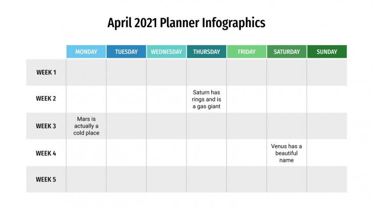 Agenda de abril de 2021 | Tema do Apresentações Google e PPT