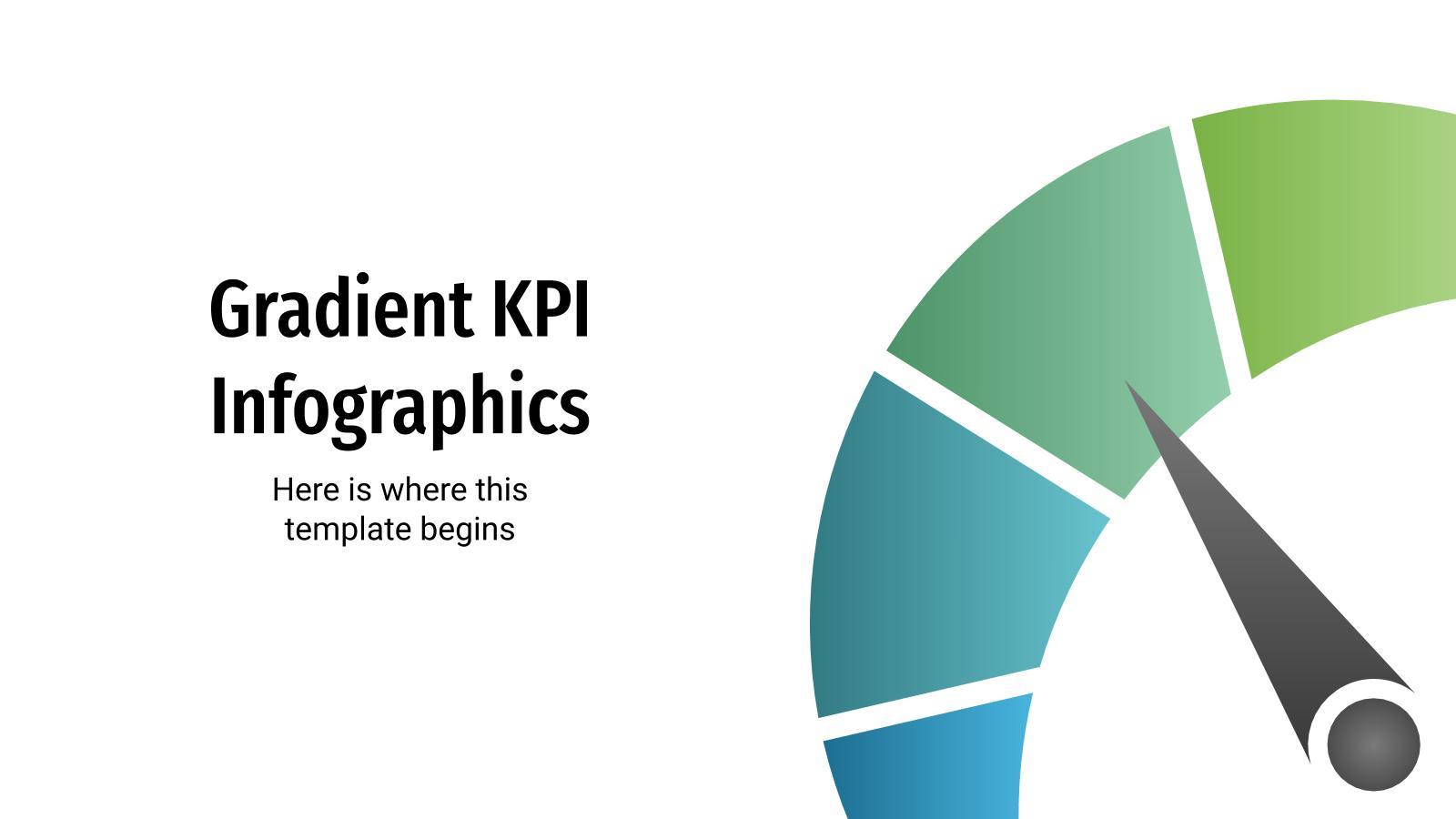 Plantilla de presentación Infografías de KPI con degradados