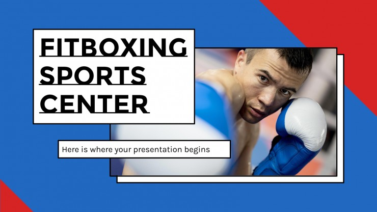 Fitboxing Sports Center presentation template