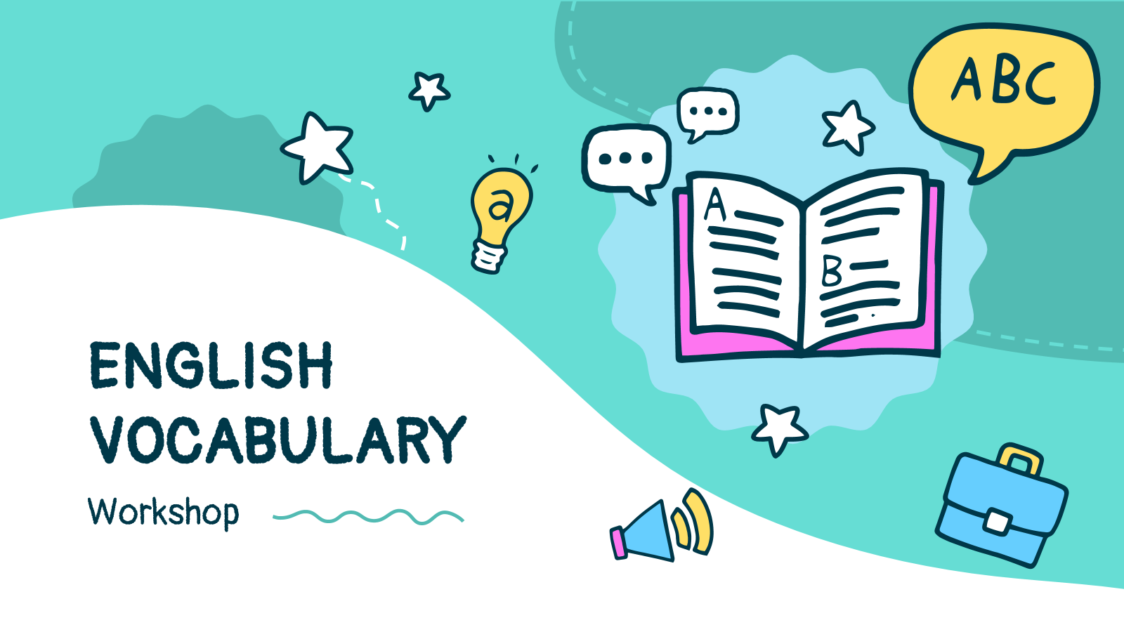 English Vocabulary Workshop presentation template