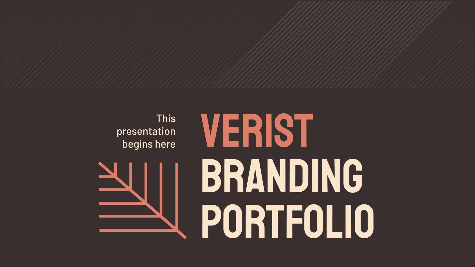 Plantilla de presentación Portafolio de marca Verist