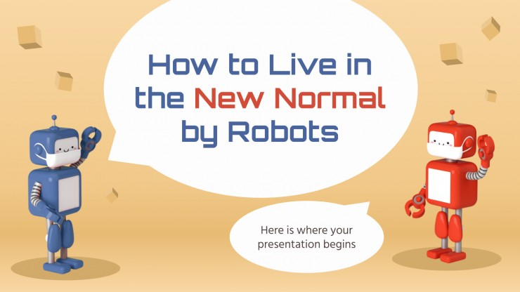 How to Live in the New Normal by Robots presentation template