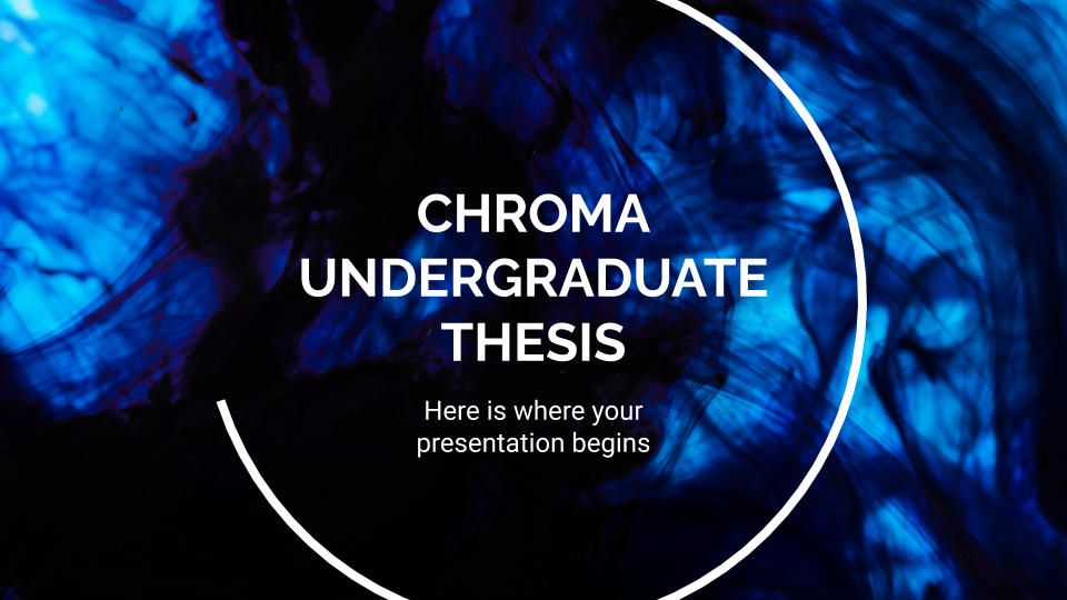 Chroma Undergraduate Thesis presentation template