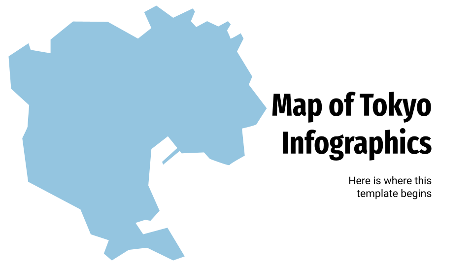 Map of Tokyo Infographics presentation template