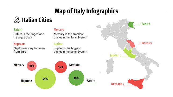 Map of Italy Infographics presentation template