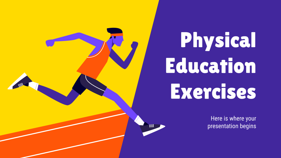 Physical Education Exercises presentation template