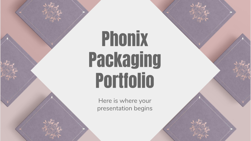 Portfolio d'emballages Phonix : Modèles de présentation
