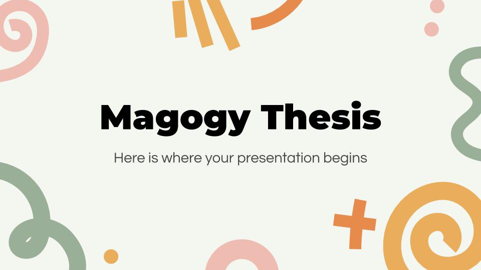Plantilla de presentación Tesis Magogy