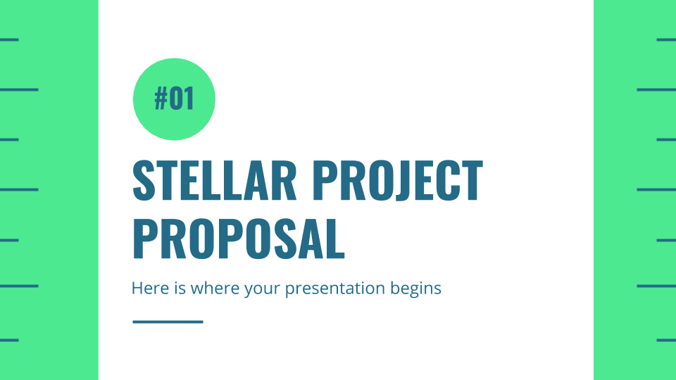 Stellar Projektvorschlag Präsentationsvorlage