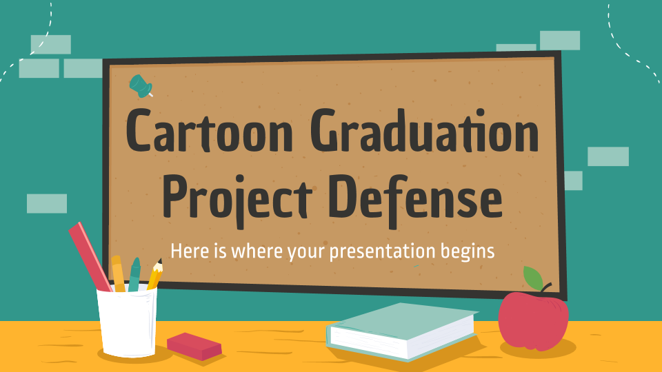 Cartoon Graduation Project Defense presentation template