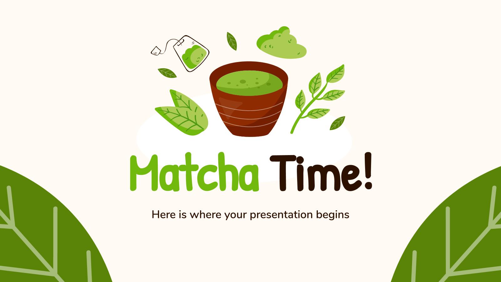 Plantilla de presentación ¡Es la hora del matcha!