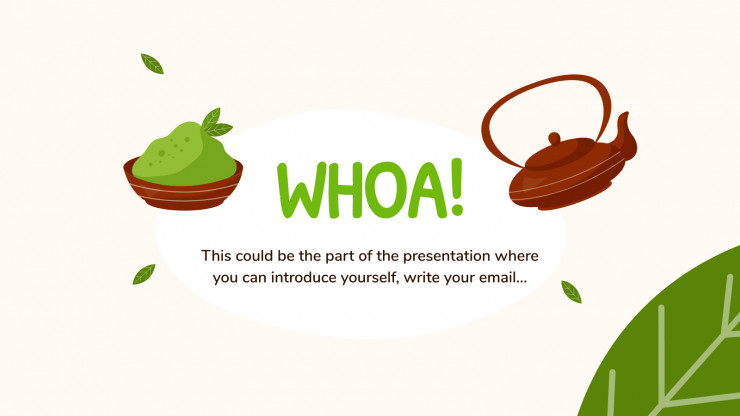 Matcha Time! presentation template