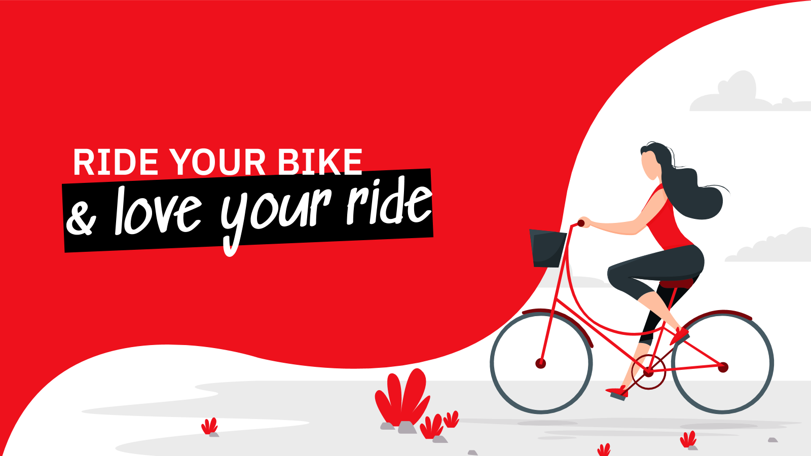 Plantilla de presentación Monta en bici