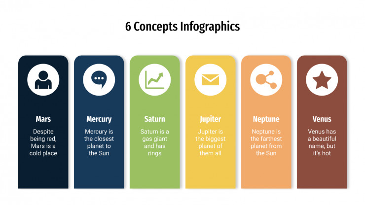 6 Concepts Infographics presentation template