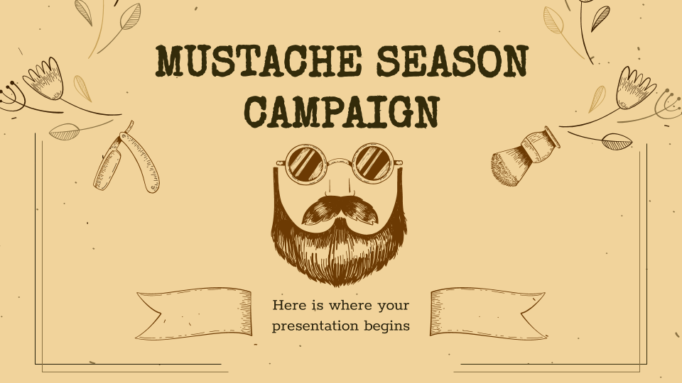 Campagne de la saison des moustaches : Modèles de présentation