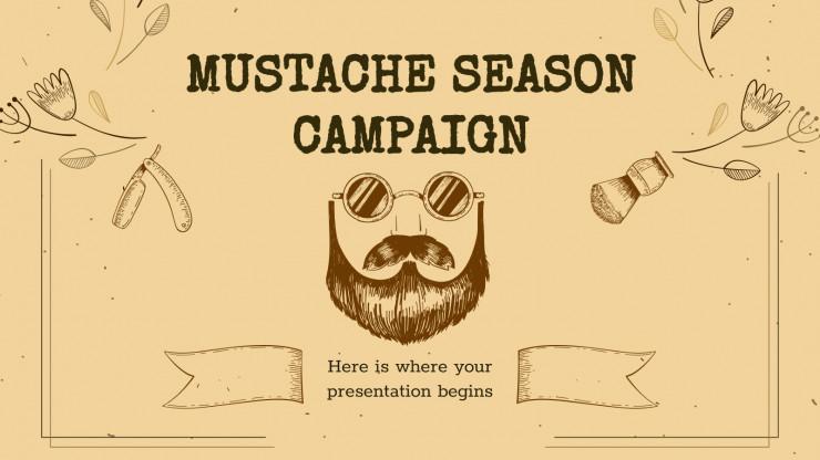 Mustache Season Campaign presentation template