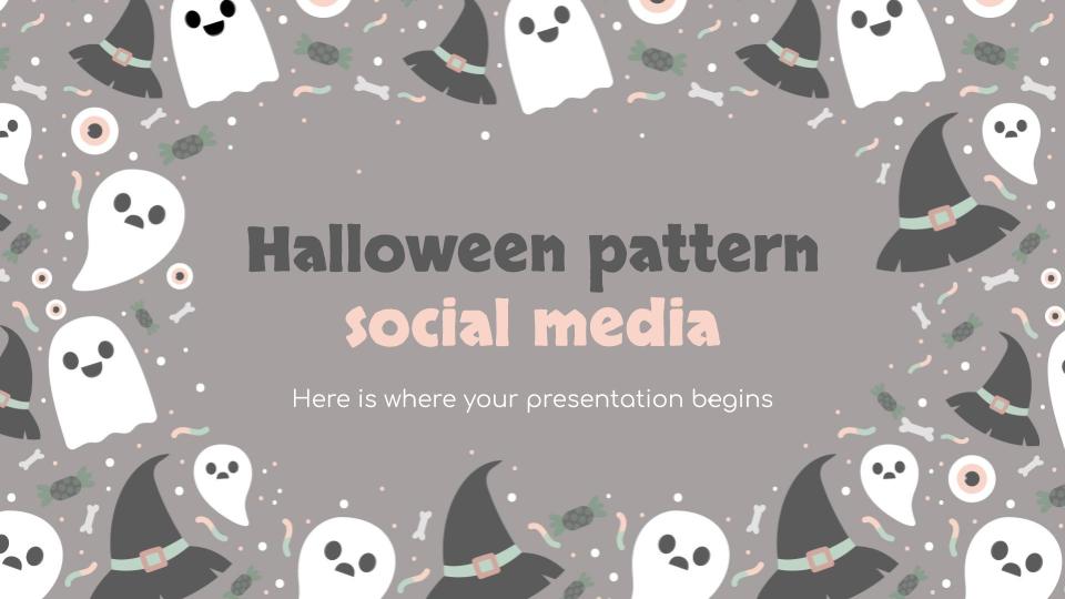 Modelo de apresentação Mídia social do Halloween