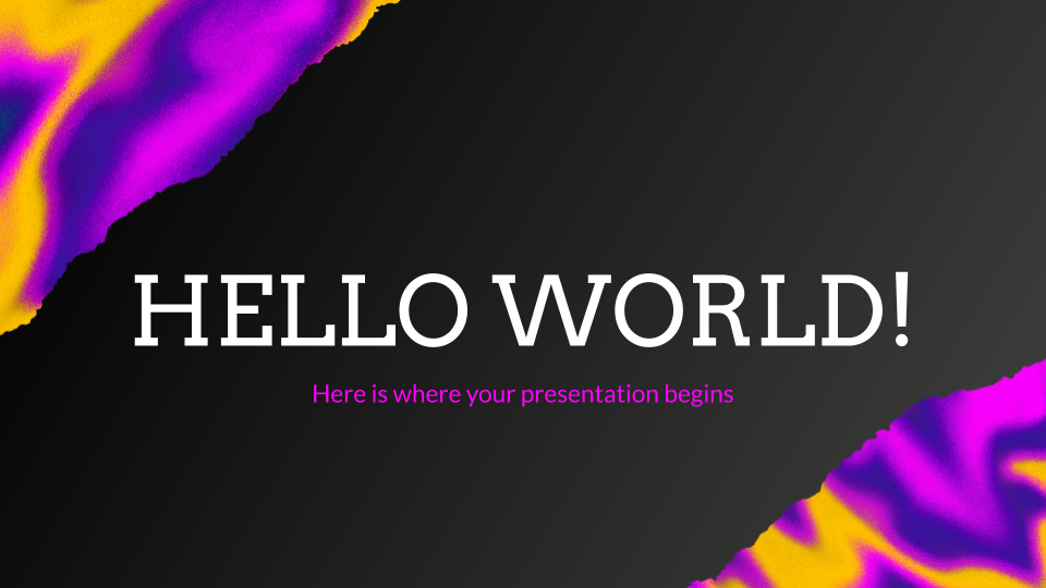 Hello World Advertising presentation template