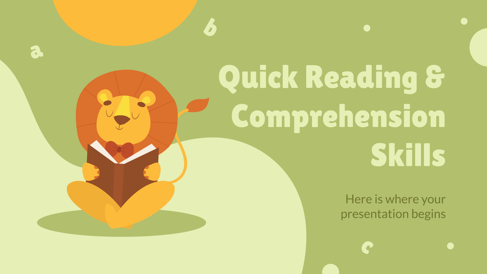 Quick Reading & Comprehension Skills presentation template