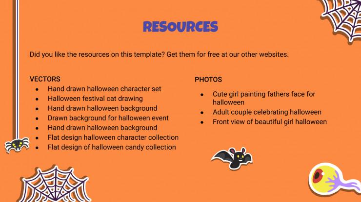Plantilla de presentación Pegatinas de Halloween
