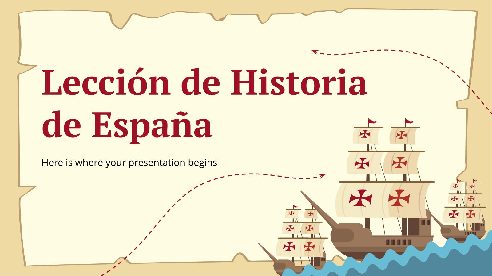 Plantilla de presentación Lección de historia de España