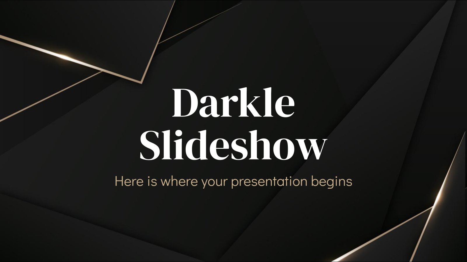 Darkle Slideshow presentation template