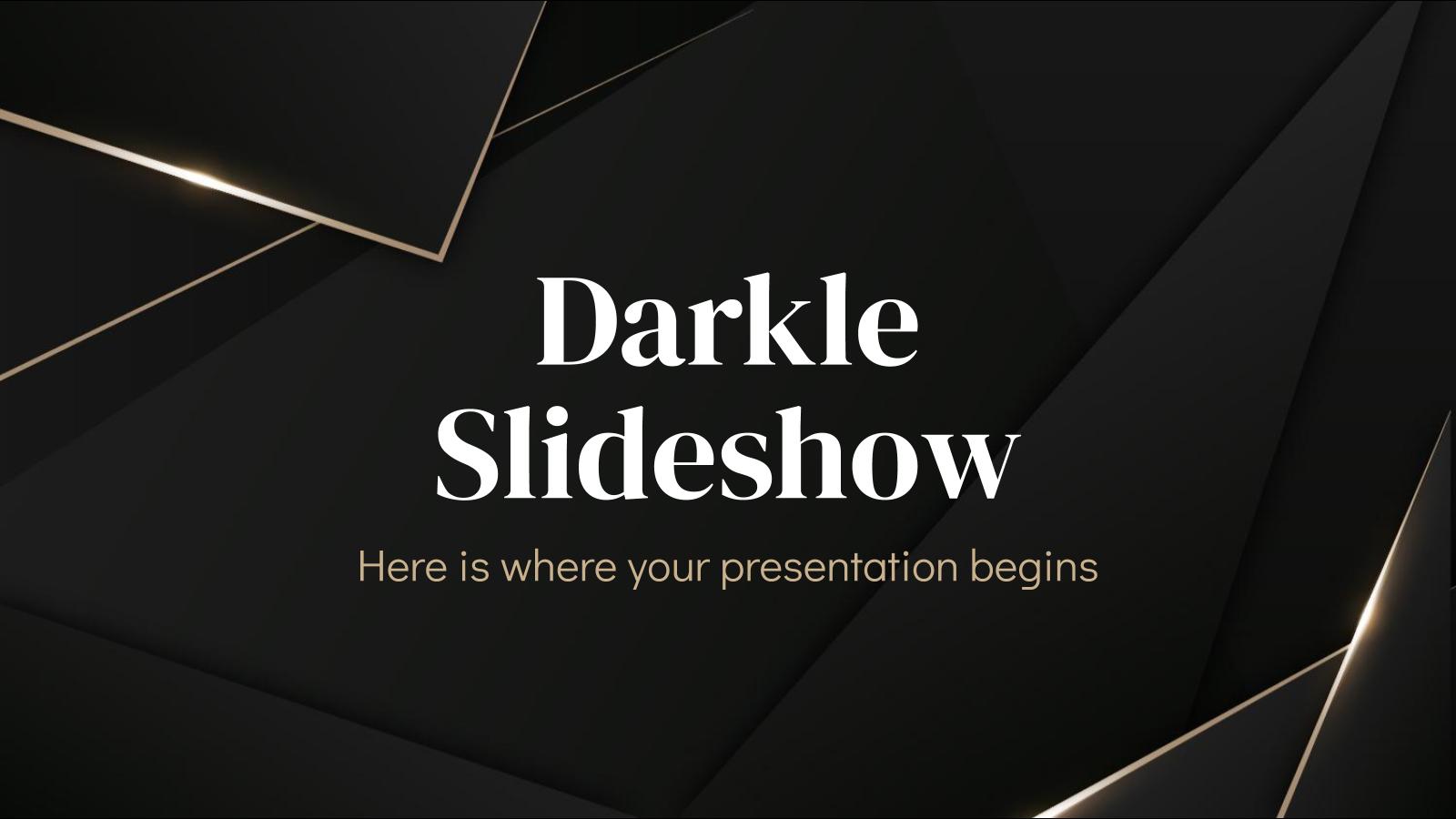 Modelo de apresentação Apresentação Darkle
