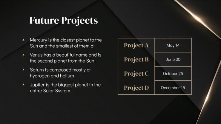 Plantilla de presentación Diapositivas Darkle