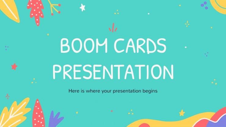 Modelo de apresentação Cartões Boom
