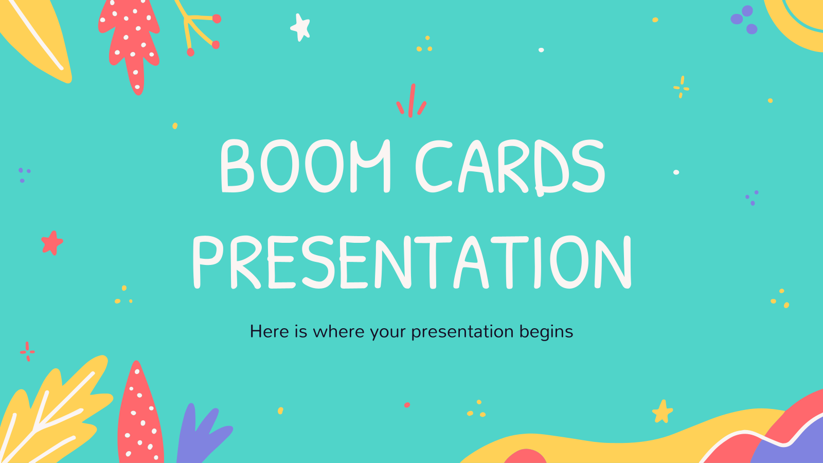 Boom Cards presentation template