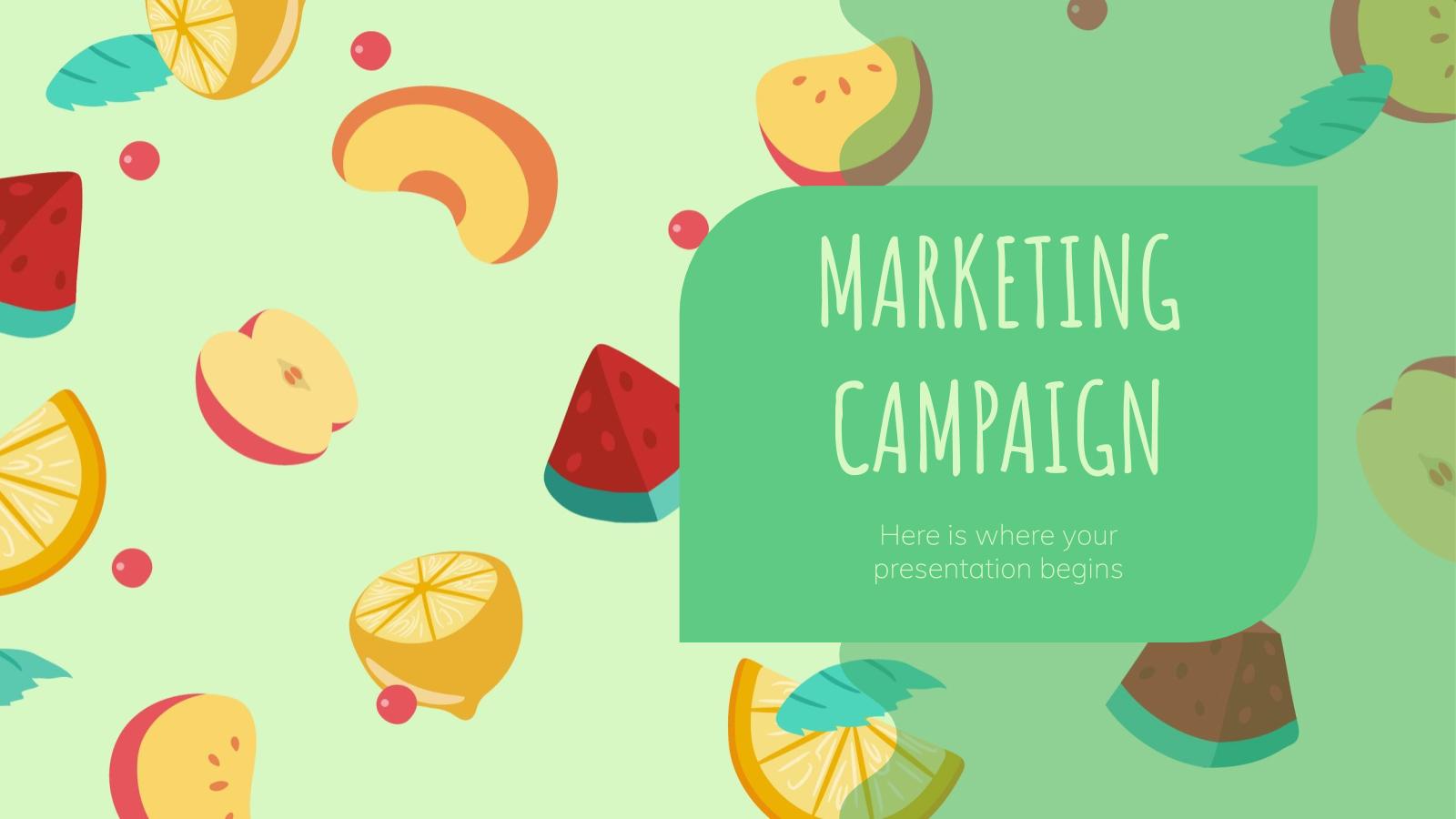 Modelo de apresentação Campanha de marketing de frutas